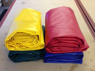 3.0 mtr Wide  UV Polyester Reinforced Tarpaulin in a choice of lengths and colours  - 610gsm